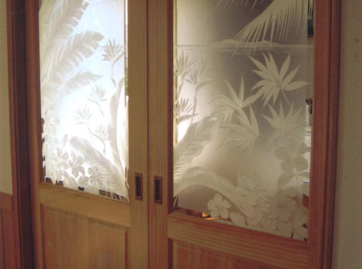 室内ドアのエッチングガラスのサムネイル