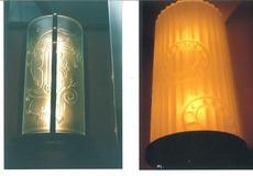 エッチングガラスの照明