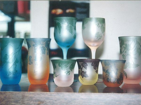 ガレ風グラス