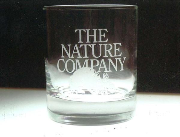 グラスにエッチングガラス加工