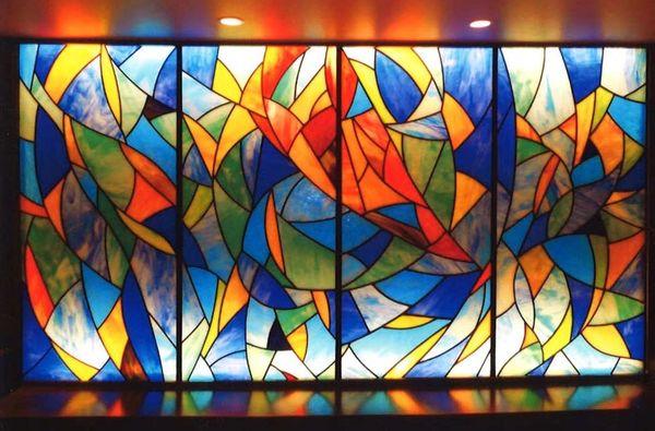 オパールステンドグラス(店舗ステンドグラス、アートガラス)