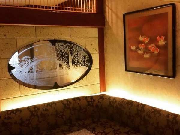 浮世絵のエッチングガラス