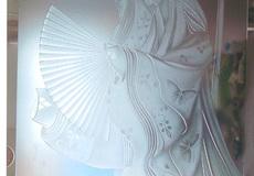かぐや姫のガラス彫刻
