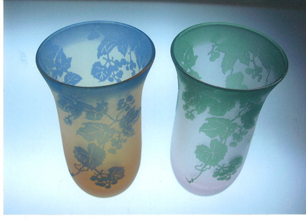ガレ風オリジナルグラス