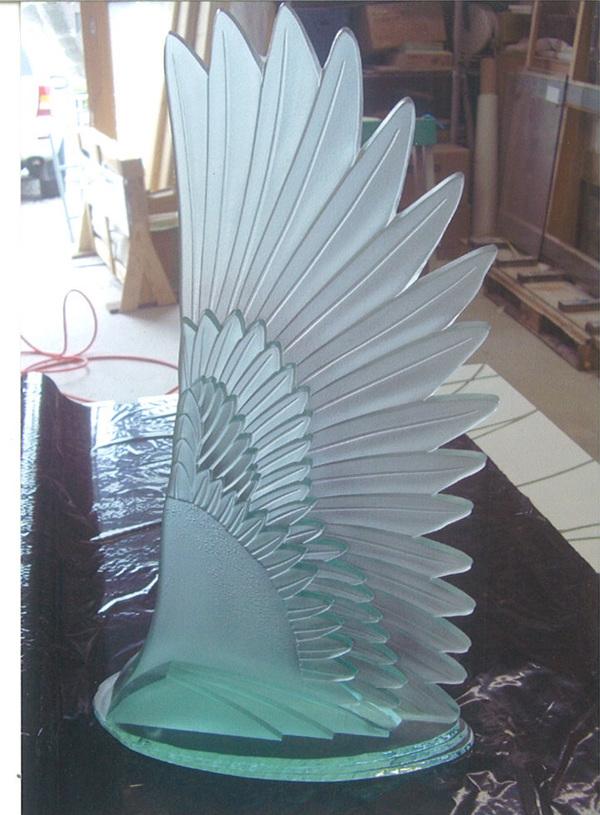 羽のガラスオブジェ(ガラスオブジェ)