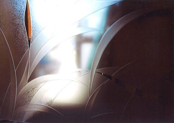 エッチングガラスのリペア(建築、住宅エッチングガラス)