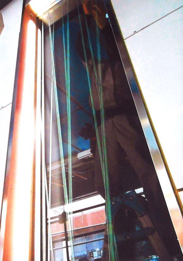 壁面エッチングアートガラス(建築用エッチングガラス)