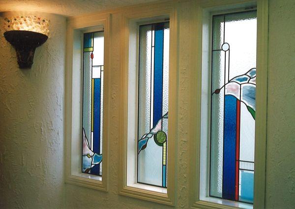 ワンポイントのステンドグラス 2(建築住宅ステンド、アートガラス)