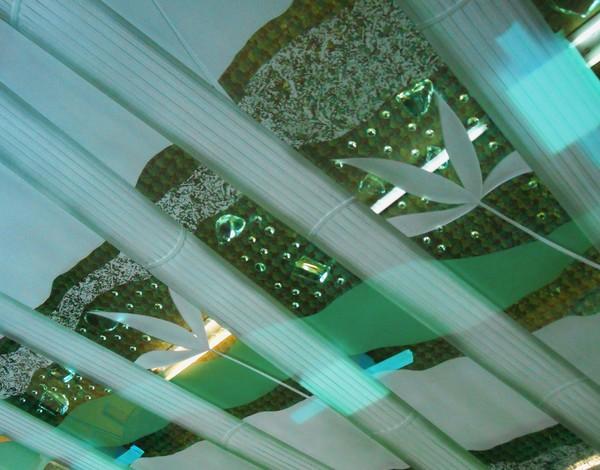 和風エッチングアートガラス(建築店舗エッチングガラス)