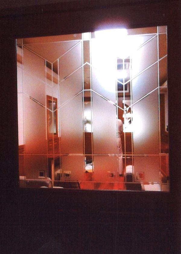 直線エッチングガラス(建築住宅エッチングガラス)