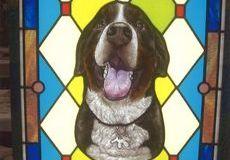 愛犬のステンドグラス
