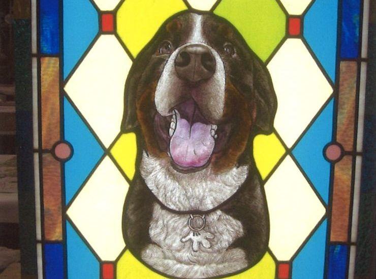 愛犬のステンドグラス のサムネイル