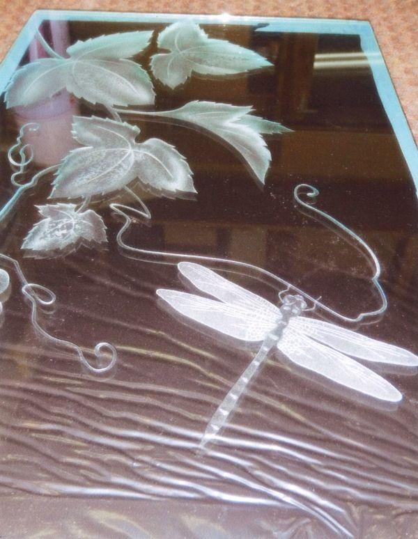 ぶどうのエッチングガラス(建築・住宅エッチングガラス)