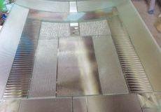 鉛線の無いステンドグラス