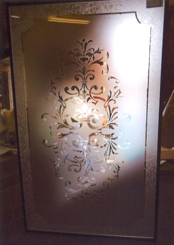 複層平彫りエッチングガラス(住宅複層アートガラス)
