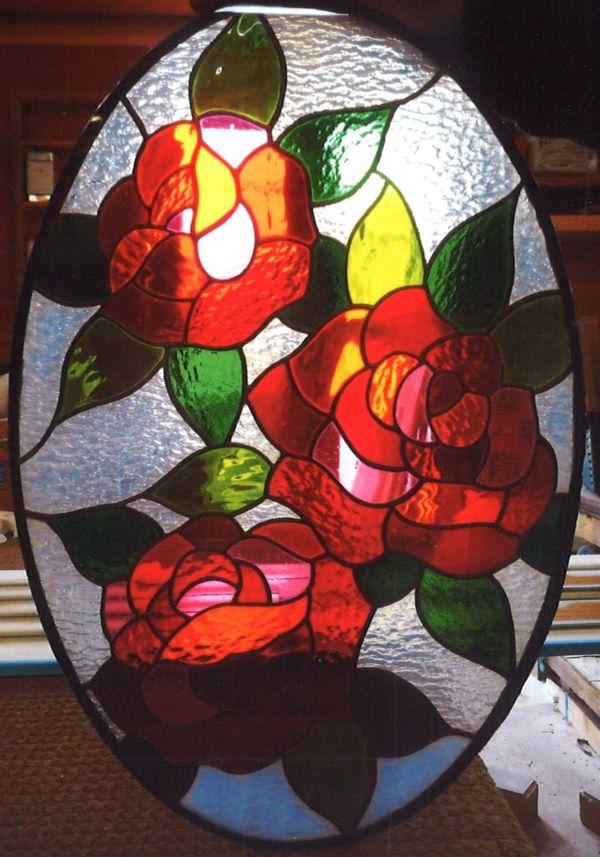 ステンドグラス 薔薇 (店舗・住宅ステンドグラス)