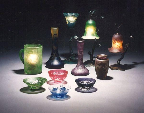 アートガラス 器物 (サンドブラスト・エッチングガラス)