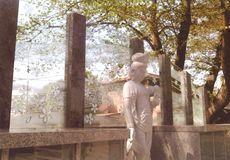 集合墓のガラス
