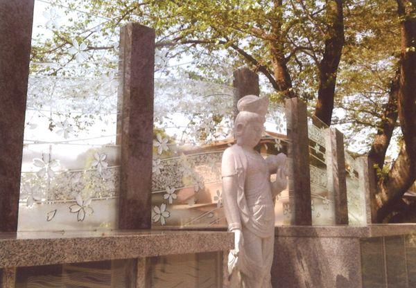 墓石アートガラス(エッチングアートガラス)
