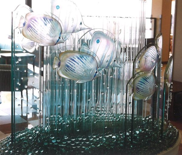 エッチングガラスアート(ホテルアートガラス)