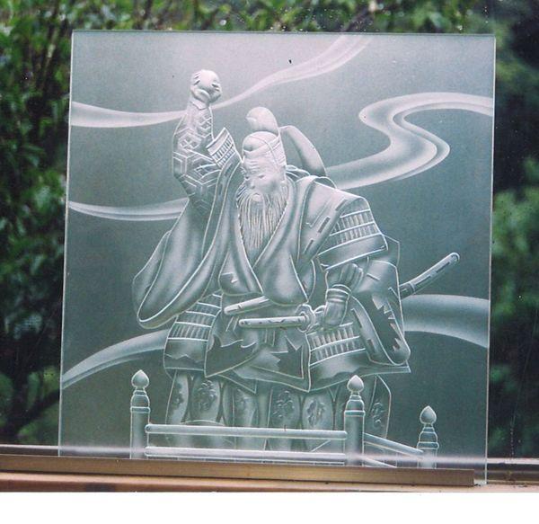 装飾のエッチングガラス(飾りアートガラス)