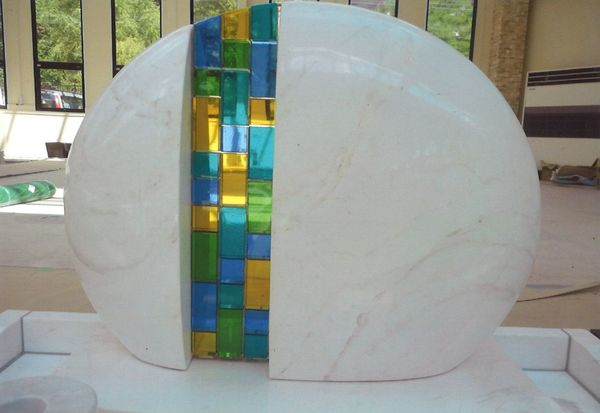 アートガラス墓石 (墓石アートガラス)