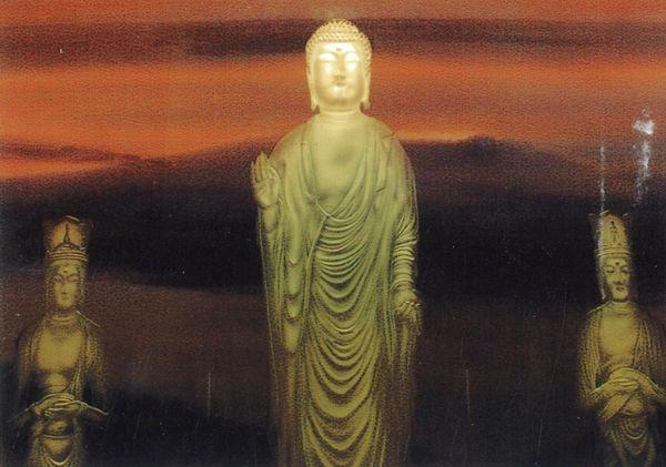 仏像エッチングガラス (仏像ガラス)