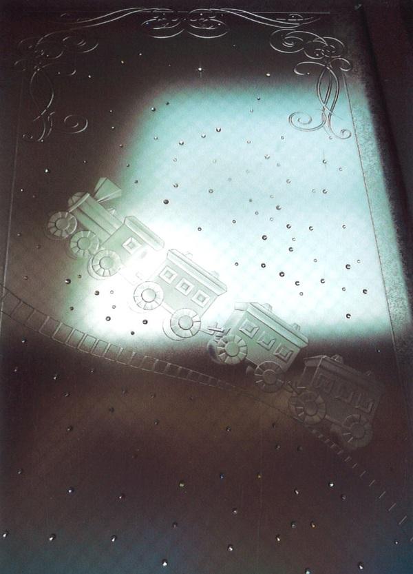 メルヘンなエッチングガラス(住宅アートガラス)