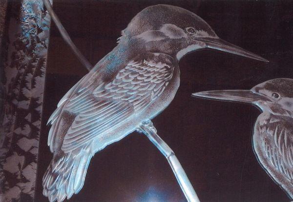 国際平和展日本の美術 2部作 (彫刻ガラス)