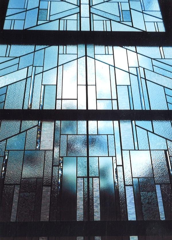 クリア系ステンドグラス(建築・住宅ステンドグラス)