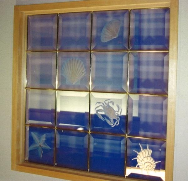エッチング彫刻とステンドグラス(店舗・住宅ステンドグラス)