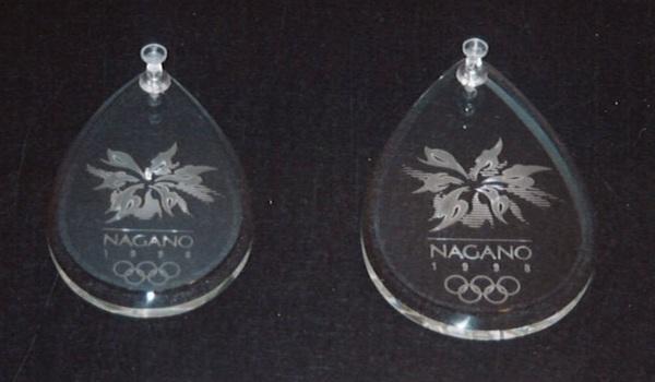 オリンピックメダルエッチングガラス