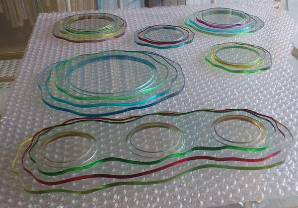 アート皿 (アートガラス皿)