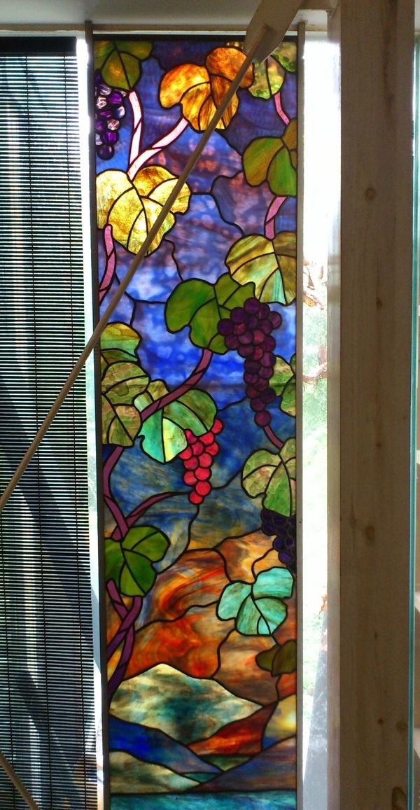 乳白ガラスのステンドグラス(住宅ステンドグラス)