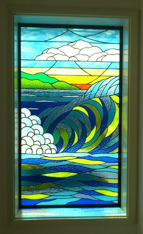 ハワイアンステンドグラス(住宅ステンドグラス)