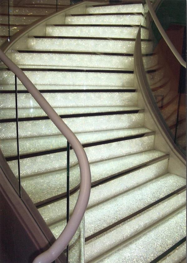ガラス階段(ホテル・結婚式場アートガラス)
