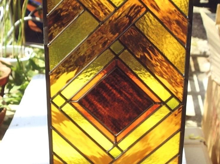 アンバー系のステンドグラスのサムネイル