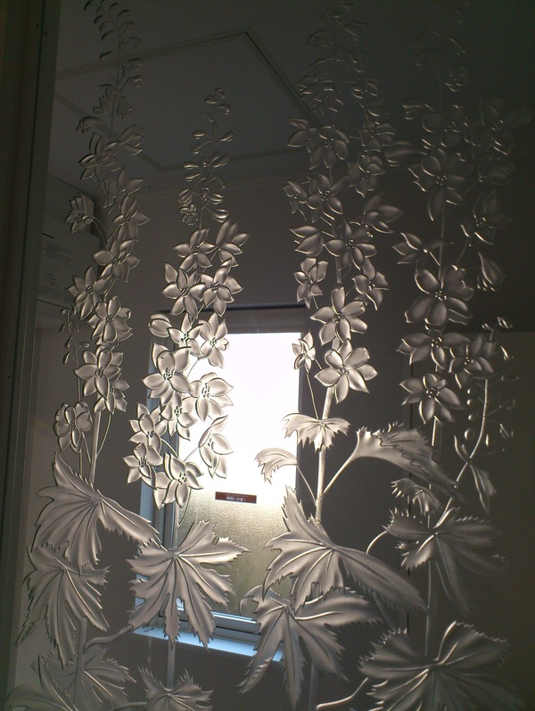 住宅アートガラス(間仕切りエッチングガラス)