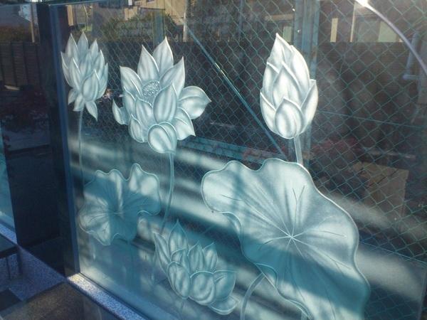 墓石のアートガラス