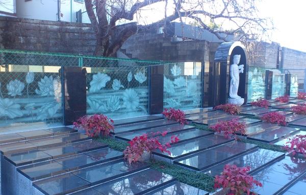 墓石ガラス(墓石アートガラス)