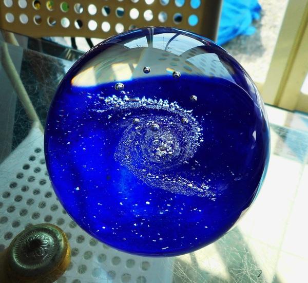 ガラス玉 泡 (宙吹きアートガラス)