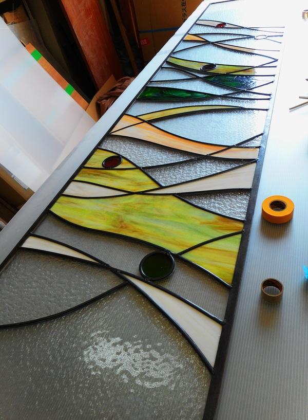 ステンドグラスの組み立て(建築、住宅ステンドグラス)