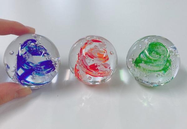 アートガラス玉 (宙吹き&フュージング)