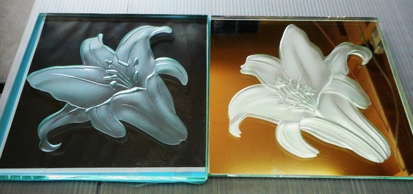エッチングガラス植物(サンドブラスト植物)