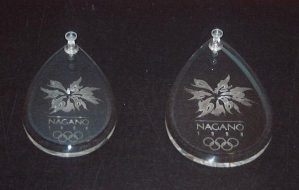 オリンピックガラスメダル(アートガラス試作)
