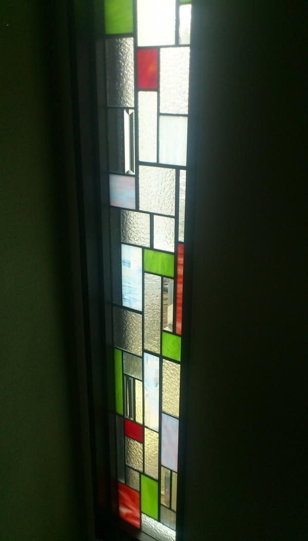 住宅ステンドグラス 幾何学(住宅アートガラス)